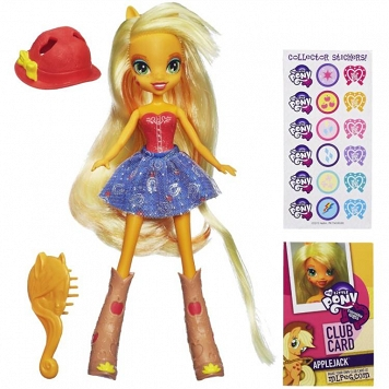 MY LITTLE PONY EQUESTRIA GIRLS - LALECZKA APPLEJACK Z AKCESORIAMI / HASBRO A4101