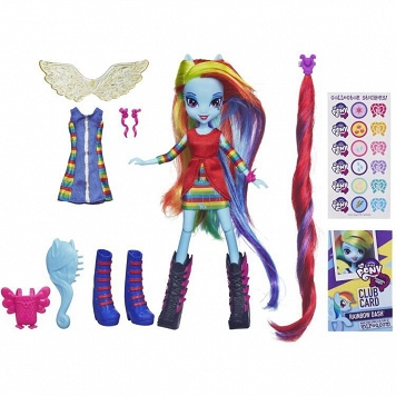 MY LITTLE PONY EQUESTRIA GIRLS - LALECZKA RAINBOW DASH Z AKCESORIAMI / HASBRO A4121